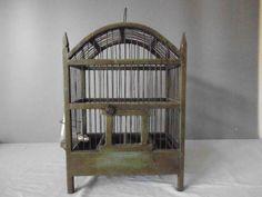 Antique German Wooden Bird Cage 1900