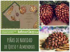 Recetas de Navidad Comidas Cenas Aperitivos Pinas Queso Almendras Tarjetas de Navidad LaBelleCarte: http://www.labellecarte.com/tarjetas_virtuales/Felicitaciones_de_Navidad