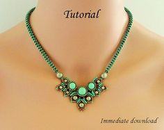 Beading tutorial beadweaving necklace pattern by PeyoteBeadArt