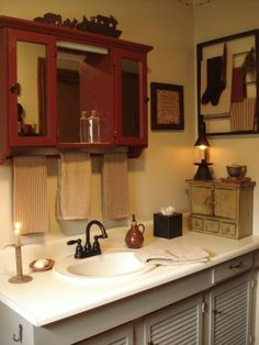 A Primitive Place ~ Primitive & Colonial Inspired Bathrooms