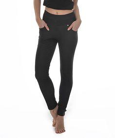 H2Gear Fashions Denim Black Leggings | zulily