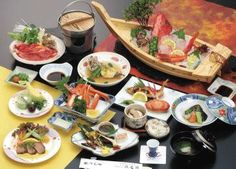 "This is a dish of the hot spring hotel of ""Seiryu-kaku"" of the hot spring of Arawa in Fukui Prefecture in Japan ☆ Sashimi"