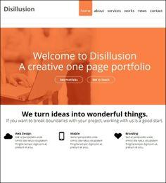 Disillusion - Responsive One Page WordPress Theme #wordpress #wp #responsive #theme #website #web [$30]