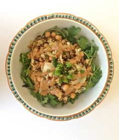 Have you ever tried roasted cabbage? If not, you must because it is oh-so-good! The flavor and texture is tough to beat, especially when you pair it with roasted cauliflower and a peanut sauce. This