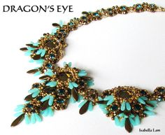 This DRAGONS EYE beadwork necklace was designed and created for the Etsy Beadweavers Team February 2013 challenge Japan.  My DRAGONS EYE was inspired by the Ancient Japan mythology. The dragon is one of the four divine beasts from Japanese mythology. It is frequently the emblem of emperors and heroes, who makes sense, as dragons are pretty awesome. Ryūjin shinkō (dragon god faith) is a form of Shinto religious belief that worships dragons as water gods. It has connections with agricultural…