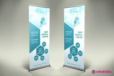 Family Medicine Roll Up Banner Templates **Family Medicine Roll Up Banner - banner is perfect to give orientation and promote th by Creatricks Exhibition Banners, Standing Banner Design, Trade Show Booth Design, Stand Design, Dental, Pop Up Banner, Roll Up Design, Newsletter Design, Cool Business Cards