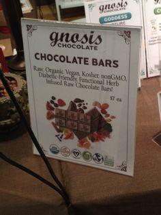 Gnosis chocolate bars - raw, vegan, organic, kosher - at the NY Chocolate Show 2012 in NYC