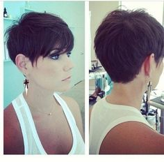 Chic Pixie Haircut Side and Back View