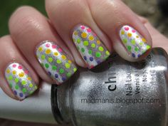 MaD Manis: Robotic Neon Polka Dots