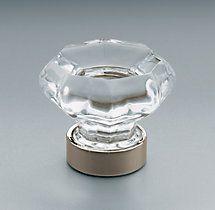 Restoration Hardware Traditional Clear Glass Knob w/ polished nickel finish Sea Glass Art, Stained Glass Art, Clear Glass, Fused Glass, Küchen Design, Door Design, Bath Design, Design Ideas, Restoration Hardware