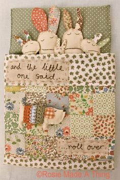 Make your own creation for a little one. Combine patchwork, hand embroidery, knitted or crocheted sections. Lovely photos for inspiration . Fabric Toys, Fabric Art, Fabric Crafts, Sewing Toys, Sewing Crafts, Diy Crafts, Diy Xmas Presents, Craft Projects, Sewing Projects