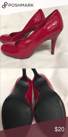 Red pumps. Brand new (never worn) patent leather red pumps. Shoes Heels