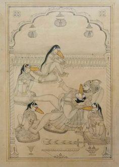 Alexander Gorlizki Couple Painting, Couple Art, Ancient Indian Art, Ancient Art, Exotic Art, Indian Gods, Indian Paintings, Pulp Art, Military Art