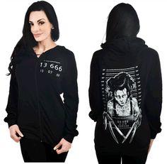 BURNOUT HOODIE - EDWARD SCISSORHANDS MUGSHOT by Too Fast Clothing - #infectiousthreads #goth #gothic #horrorpunk #punk #alt #alternative #psychobilly #punkrock #black #fashion #clothes #clothing #darkfashion #streetfashion #edwardscissorhands #hoodie #sweatshirt