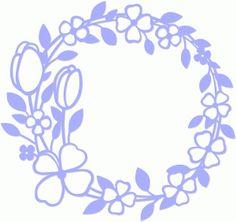 Silhouette Design Store: spring flower wreath