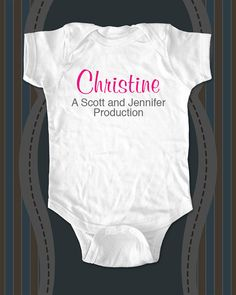 Custom Name of Child and Parents Onesie or Shirt with child's name - Baby One-piece, Infant, Toddler