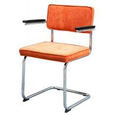 Typisk - Matz Rib Stoel Met Armleuningen - Oranje