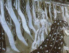 """intothedarkwoods: """" """" Sketches for sets for Jean Cocteau's """"La Belle et la Bête"""" Christian Bérard, 1946 """" """""""