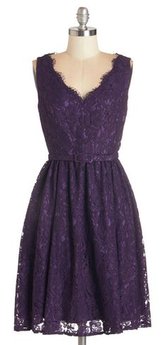 Fun, funky, and altogether fab, this lace dress adds glamour to your best friends big day. Mod Dress, Lace Dress, Dress Up, Dress Shoes, Purple Lace, Purple Dress, Green Wedding Shoes, Purple Wedding, Retro Vintage Dresses