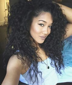Ashley - Blasian model...and no this isn't curly hair, its bedroom hair!