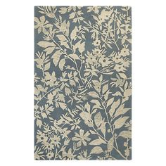 Mohawk Home Augusta Spokane Abyss Blue Rug - 90308 880 060096 Synthetic Rugs, Mohawk Home, Floral Rug, Floral Design, Rug Material, Modern Carpet, Home Rugs, Accent Rugs, Woven Rug