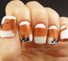 Dachshund Nails--I wouldn't wear them, but it's CUTE..