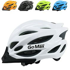 GoMax Aero Adult Safety Helmet Adjustable Road Cycling Mountain Bike Bicycle Helmet Ultralight Inner Padding Chin Protector and visor w/ Adjust Dial also for Kids 12  (White) >>> Read more  at the image link.