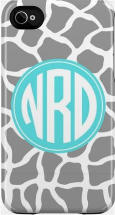 Monogram iPhone & iPod Touch Case