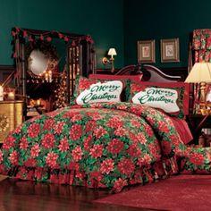 imagen: cubre cama navideño para el dormitorio