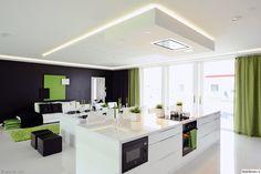 Katon alaslasku (kattoon koteloitu liesituuletin) ja epäsuora valaistus