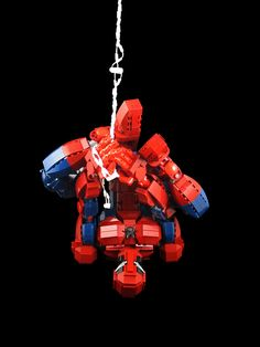 The Amazing Posable LEGO Spider-Man (personal images are used in my audio e-books for children and Illustrative Poetry, available at ) Lego Mecha, Lego Robot, Lego Duplo, Lego Spiderman, Lego Design, Lego Minecraft, Lego Disney, Pokemon Lego, Lego Sculptures