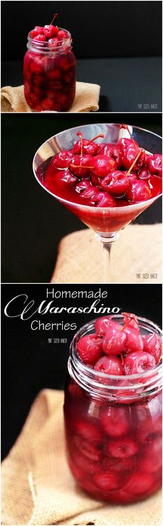 Why deal with the artificial colors, flavors, and preservatives. Make your own homemade Maraschino Cherries that taste great.