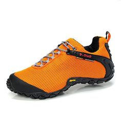 Introducing ZSUO Mens Breathable Mesh Hiking Shoe8 USOrange. Great Product and follow us to get more updates!