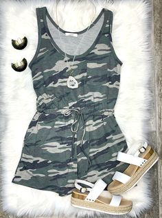 Command Attention Camo Romper    #streetstyle #cozy #casualstyle #ootdfashion #style #ootd #summerfashion #flannel #blogger #travel #vacationstyle #fashionlover #fashionblogger #summerstyle #boutiquefashion #womensfashionoutfit #summeroutfit #dress #layeringdress #casualstyle #casualfashion #joggers #comfyoutfit #kimono #swimwear #homefashion #summervibes #womensfashion #onlineshopping #onlineboutique Day Jumpsuits, Jumpsuits For Girls, Mom Outfits, Summer Outfits, Cold Shoulder Romper, Maxi Romper, Camo Fashion, Camo Shirts, Surf Wear