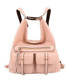 Pink Convertible Penelope Hobo Backpack