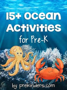 Pre-K & Preschool theme ideas for learning about ocean animals. Find more Ocean Activities for Pre-K on the category page. Books Click here for a complete list of books about Ocean Animals! Crab Walk {Large Motor} Children crawl like a crab from one point to another. After children have had some practice, have themfigure out …