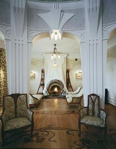 Art Nouveau Style House Villa Liberty Moscow, Russia,Art Nouveau Style House, Art Nouveau interior Design from: http://interiordesignfiles.com/