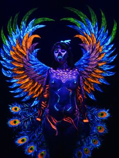 UV Blacklight body painting Artist: Joel Hernandez reikokudesign.com