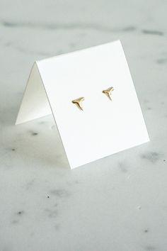 Odette Tiny 14k Gold Shark Tooth Studs – Spartan
