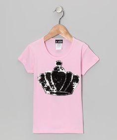 Look what I found on #zulily! Pink Crown Tee - Toddler & Girls by A Wish #zulilyfinds