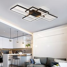 Buy Modern Black LED Flush Mount Ceiling Light Square Combination Shape for Office Meeting Room Living Dining Room Bedrooms, sale ends soon. Be inspired: discover affordable quality shopping on Gearbest Mobile! Square Ceiling Lights, Flush Ceiling Lights, Flush Mount Ceiling, Living Room Lighting, Bedroom Lighting, Light Bedroom, Study Rooms, Bedroom Ceiling, Led Flush Mount