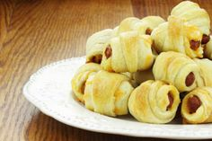 Fun holiday appetizers! A new twist on pigs in a blanket.