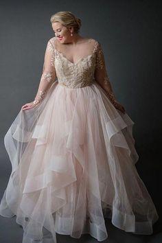 Plus Size Wedding Dresses – Hayley Paige…wow, this dress is gorgeous! Plus Size Wedding Dresses – Hayley Paige…wow, this dress is gorgeous!,Hochzeitskleid Plus Size Wedding Dresses – Hayley Paige…wow, this dress is gorgeous! Plus Size Bridal Dresses, Plus Size Wedding Gowns, Dress Plus Size, Plus Size Gowns, Western Wedding Dresses, Wedding Dress Styles, Curvy Wedding Dresses, Wedding Dress Chiffon, Light Pink Wedding Dress