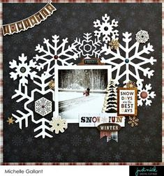 We don't have snow around here, but very pretty idea for a Christmas Page