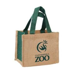 """Promotional Natural Two Tone Jute Small Tote Bags: Available Colors : Natural w/ Forest Trim, Natural w/ Red Trim, Natural w/ Royal Trim. Imprint Area : 5""""W x 4""""H. Product Size : 8"""" x 6.5"""" x 5"""". Product Weight : 22 lbs. Packaging : 100 pieces. Material : Laminated Jute. #NaturalTwoToneTote #Jute #promotionalproduct #freeshipping"""