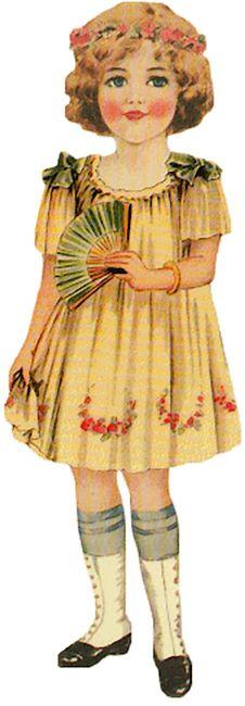 Cute 1920s Girl with Fan