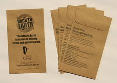 Our ecomony range of custom printed seed packets are great for wedding favours, promotional seed packets and other gifts. Seed Wedding Favors, Seed Packets, Cuttings, Seeds, Printed, Garden, Garten, Plant Cuttings, Lawn And Garden