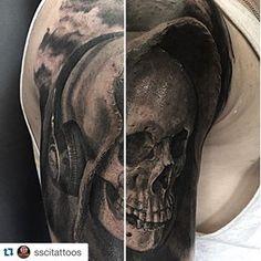 Skull Dj done by Diego Mickey