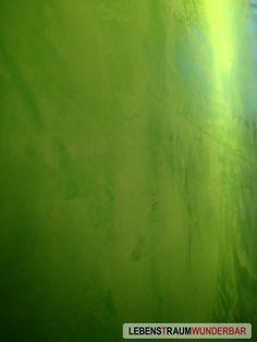 Glanzgrad & Farbe nach Wunsch - Kalkspachtel aus Löschkalk 2/2  #kalkspachtel für #wandgestaltung grün eingefärbt #lebewunderbar #zurich