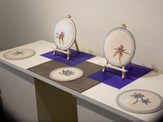 Australian wildflower collection - Botanical Illustrated stoneware plates   Dianne Collins, Melbourne